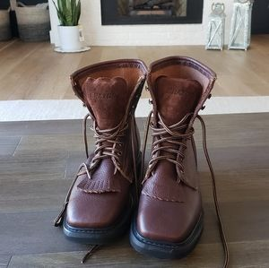 New Mens Brazos Leather Work Boots